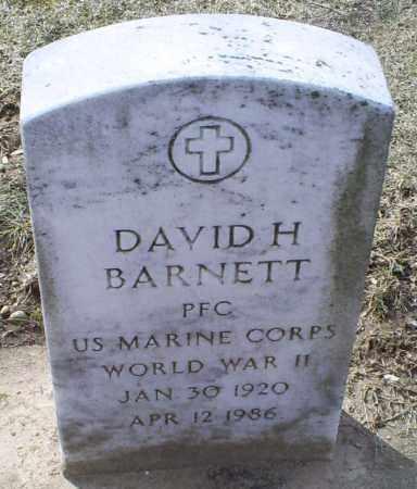 BARNETT, DAVID H. - Ross County, Ohio | DAVID H. BARNETT - Ohio Gravestone Photos