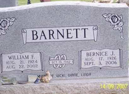 BARNETT, WILLIAM F. - Ross County, Ohio   WILLIAM F. BARNETT - Ohio Gravestone Photos