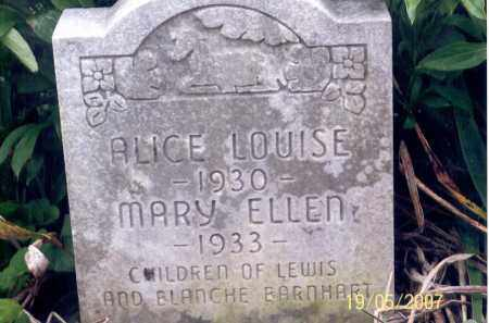 BARNHART, MARY ELLEN - Ross County, Ohio | MARY ELLEN BARNHART - Ohio Gravestone Photos
