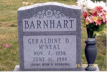 MCNEAL BARNHART, GERALDINE D. - Ross County, Ohio | GERALDINE D. MCNEAL BARNHART - Ohio Gravestone Photos