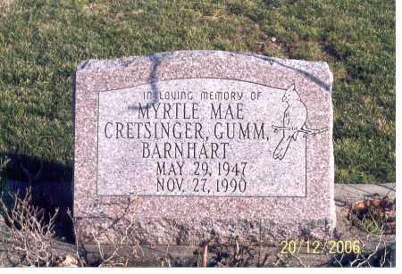 CRETSINGER, GUMM BARNHART, MYRTLE MAE - Ross County, Ohio   MYRTLE MAE CRETSINGER, GUMM BARNHART - Ohio Gravestone Photos