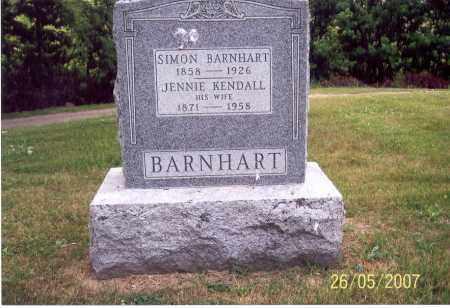 KENDALL BARNHART, JENNIE - Ross County, Ohio | JENNIE KENDALL BARNHART - Ohio Gravestone Photos