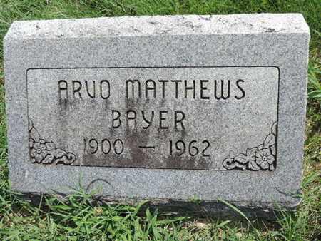 MATTHEWS BAYER, ARVO - Ross County, Ohio   ARVO MATTHEWS BAYER - Ohio Gravestone Photos