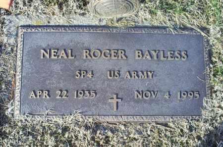 BAYLESS, NEAL ROGER - Ross County, Ohio   NEAL ROGER BAYLESS - Ohio Gravestone Photos