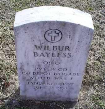 BAYLESS, WILBUR - Ross County, Ohio   WILBUR BAYLESS - Ohio Gravestone Photos