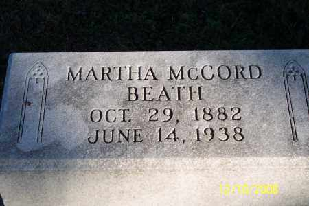 MCCCORD BEATH, MARTHA - Ross County, Ohio | MARTHA MCCCORD BEATH - Ohio Gravestone Photos