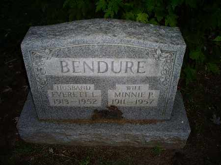 BENDURE, MINNIE P. - Ross County, Ohio | MINNIE P. BENDURE - Ohio Gravestone Photos
