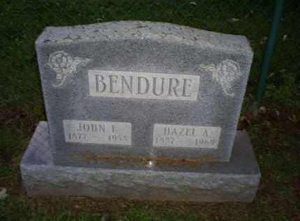 BENDURE, JOHN F. - Ross County, Ohio   JOHN F. BENDURE - Ohio Gravestone Photos