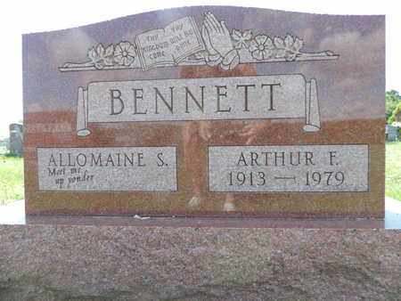 BENNETT, ALLOMATNE S. - Ross County, Ohio | ALLOMATNE S. BENNETT - Ohio Gravestone Photos