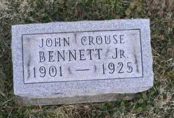 BENNETT, JOHN CROUSE JR. - Ross County, Ohio   JOHN CROUSE JR. BENNETT - Ohio Gravestone Photos