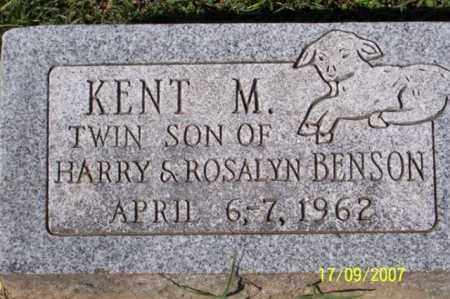 BENSON, KENT M. - Ross County, Ohio | KENT M. BENSON - Ohio Gravestone Photos