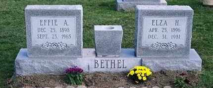 BETHEL, EFFIE A. - Ross County, Ohio | EFFIE A. BETHEL - Ohio Gravestone Photos