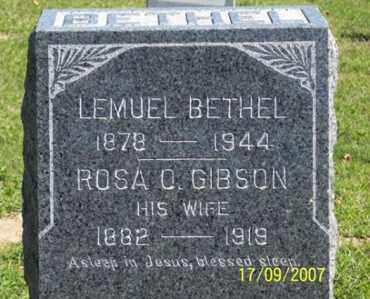 BETHEL, ROSA O. - Ross County, Ohio | ROSA O. BETHEL - Ohio Gravestone Photos