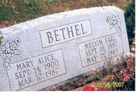 BETHEL, MARY ALICE - Ross County, Ohio | MARY ALICE BETHEL - Ohio Gravestone Photos