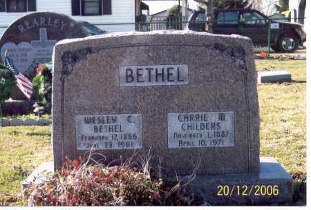 BETHEL, CARRIE M. - Ross County, Ohio | CARRIE M. BETHEL - Ohio Gravestone Photos