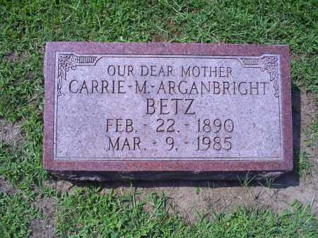 ARGANBRIGHT BETZ, CARRIE M. - Ross County, Ohio | CARRIE M. ARGANBRIGHT BETZ - Ohio Gravestone Photos