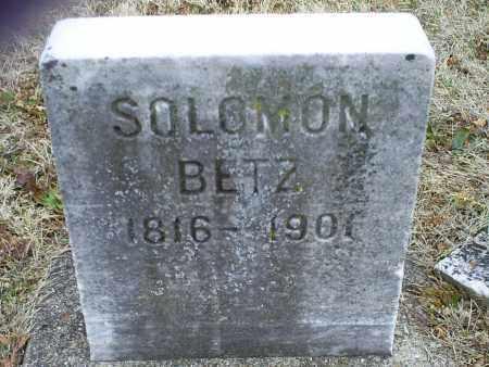 BETZ, SOLOMON - Ross County, Ohio | SOLOMON BETZ - Ohio Gravestone Photos