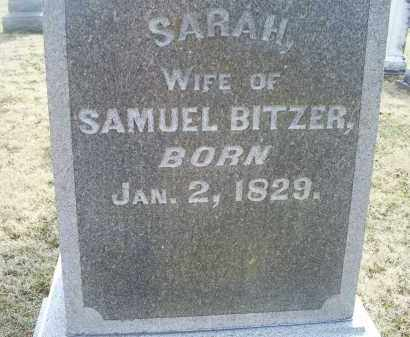 BITZER, SARAH - Ross County, Ohio   SARAH BITZER - Ohio Gravestone Photos
