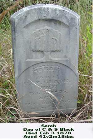 BLACK, SARAH - Ross County, Ohio | SARAH BLACK - Ohio Gravestone Photos