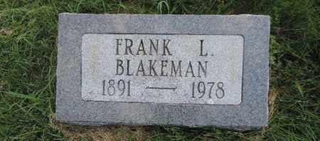 BLANKEMAN, FRANK L. - Ross County, Ohio | FRANK L. BLANKEMAN - Ohio Gravestone Photos
