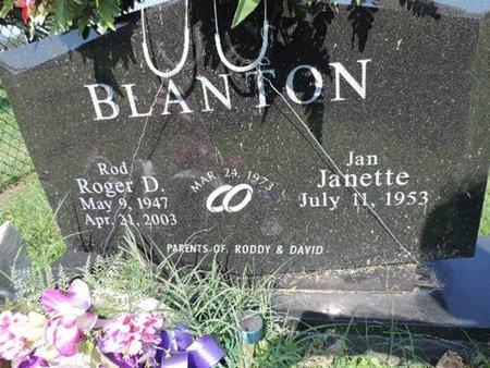 BLANTON, JANETTE - Ross County, Ohio | JANETTE BLANTON - Ohio Gravestone Photos