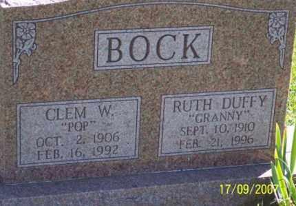 "DUFFY BOCK, RUTH ""GRANNY"" - Ross County, Ohio | RUTH ""GRANNY"" DUFFY BOCK - Ohio Gravestone Photos"