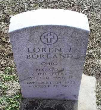 BORLAND, LOREN J. - Ross County, Ohio | LOREN J. BORLAND - Ohio Gravestone Photos