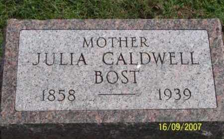 CALDWELL BOST, JULIA - Ross County, Ohio | JULIA CALDWELL BOST - Ohio Gravestone Photos