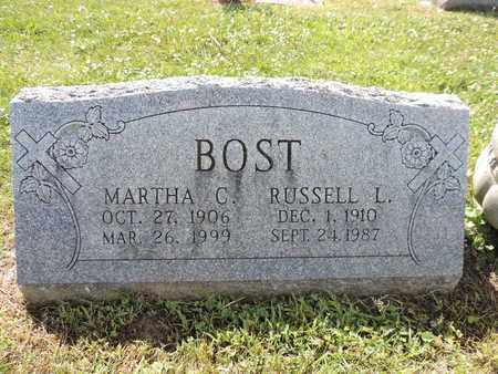 BOST, MARTHA C. - Ross County, Ohio | MARTHA C. BOST - Ohio Gravestone Photos