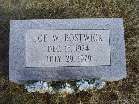 BOSTWICK, JOE W. - Ross County, Ohio | JOE W. BOSTWICK - Ohio Gravestone Photos