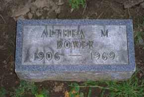 BOWER, ALTHEA M. - Ross County, Ohio   ALTHEA M. BOWER - Ohio Gravestone Photos