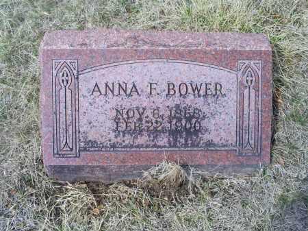 BOWER, ANNA F. - Ross County, Ohio   ANNA F. BOWER - Ohio Gravestone Photos