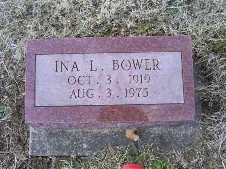 BOWER, INA L. - Ross County, Ohio   INA L. BOWER - Ohio Gravestone Photos