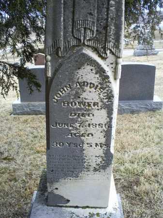 BOWER, JOHN ADDISON - Ross County, Ohio | JOHN ADDISON BOWER - Ohio Gravestone Photos