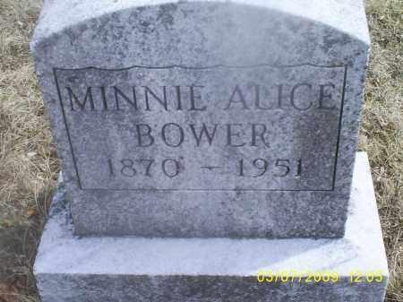 BOWER, MINNIE ALICE - Ross County, Ohio   MINNIE ALICE BOWER - Ohio Gravestone Photos