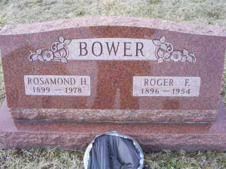 BOWER, ROGER F. - Ross County, Ohio | ROGER F. BOWER - Ohio Gravestone Photos