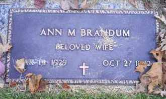 BRANDUM, ANN M. - Ross County, Ohio | ANN M. BRANDUM - Ohio Gravestone Photos