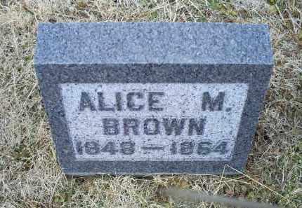 BROWN, ALICE M. - Ross County, Ohio | ALICE M. BROWN - Ohio Gravestone Photos