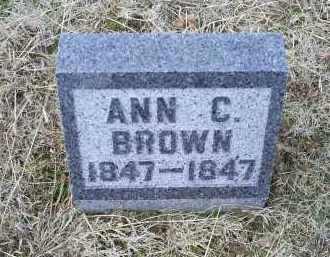 BROWN, ANN C. - Ross County, Ohio | ANN C. BROWN - Ohio Gravestone Photos