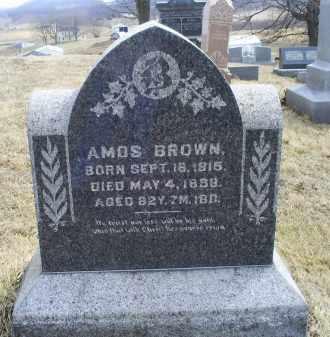 BROWN, AMOS - Ross County, Ohio | AMOS BROWN - Ohio Gravestone Photos