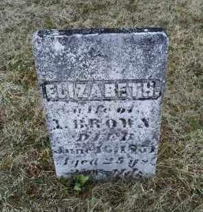 BROWN, ELIZABETH - Ross County, Ohio | ELIZABETH BROWN - Ohio Gravestone Photos