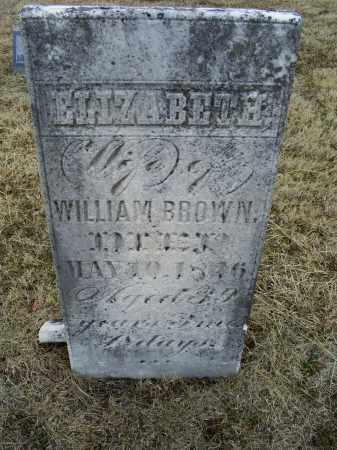 BROWN, ELIZABETH - Ross County, Ohio   ELIZABETH BROWN - Ohio Gravestone Photos