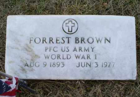 BROWN, FORREST - Ross County, Ohio | FORREST BROWN - Ohio Gravestone Photos