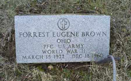 BROWN, FORREST EUGENE - Ross County, Ohio | FORREST EUGENE BROWN - Ohio Gravestone Photos