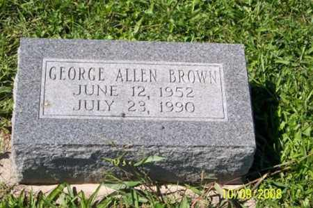 BROWN, GEORGE ALLEN - Ross County, Ohio | GEORGE ALLEN BROWN - Ohio Gravestone Photos
