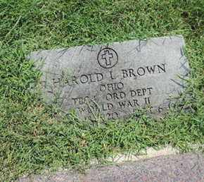 BROWN, HAROLD L - Ross County, Ohio   HAROLD L BROWN - Ohio Gravestone Photos