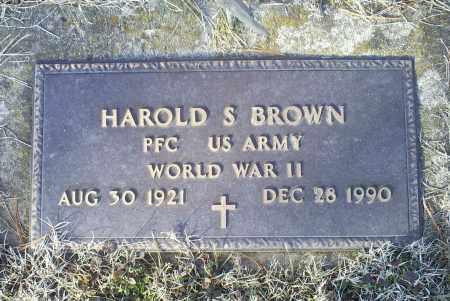 BROWN, HAROLD S. - Ross County, Ohio   HAROLD S. BROWN - Ohio Gravestone Photos