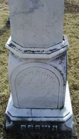 BROWN, HIRAM - Ross County, Ohio | HIRAM BROWN - Ohio Gravestone Photos