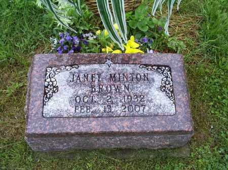 BROWN, JANET - Ross County, Ohio | JANET BROWN - Ohio Gravestone Photos