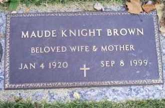 BROWN, MAUDE KNIGHT - Ross County, Ohio | MAUDE KNIGHT BROWN - Ohio Gravestone Photos